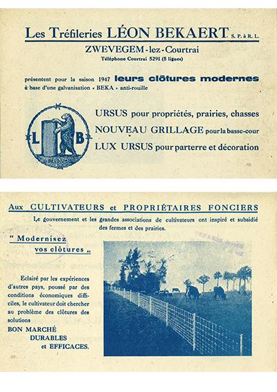 Catalogus Bekaert draad 1947