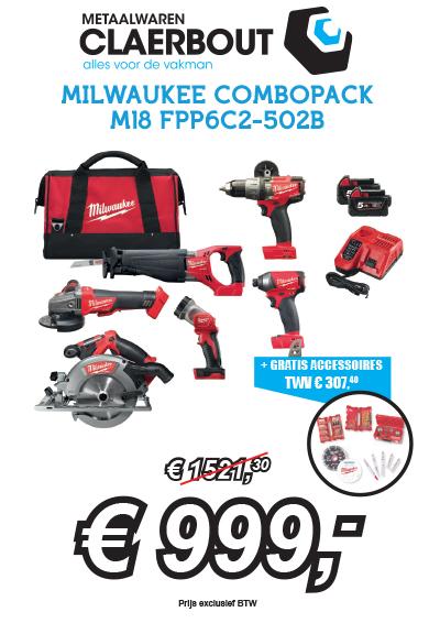 Milwaukee combopack M18 FPP6C2-502B